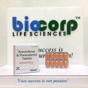 Aceclofenac 100 mg. + Chlorzoxazone 250mg. + Paracetamol 325 mg.