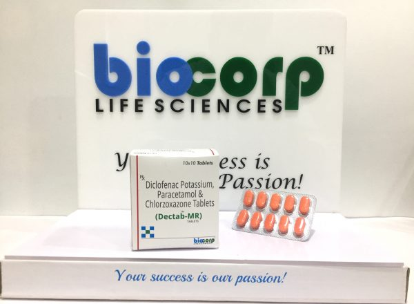 Diclofenac Pottasium 50 mg. + Chlorzoxazone 250 mg. + Paracetamol 325 mg.