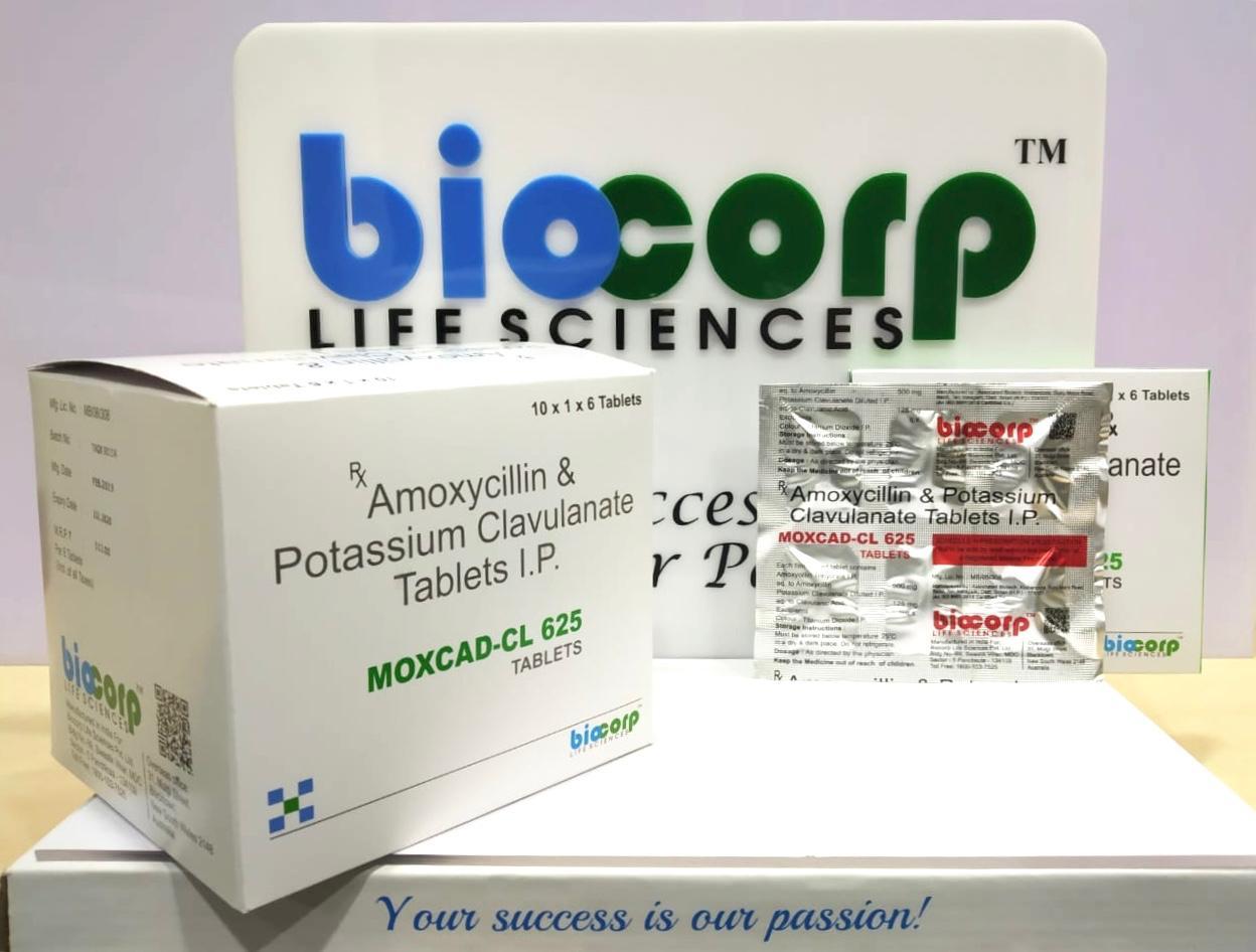 Amoxycillin 500mg. + Clavulanic Acid 125mg. (Monocartons ) & (DPCO)